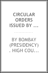 Circular Orders Issued by H.M. High Court of Judicature, Bombay, Appellate ...