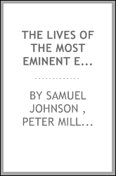 The lives of the most eminent English poets, with critical observations on ...