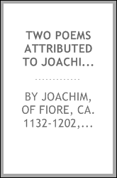 Two poems attributed to Joachim of Fiore