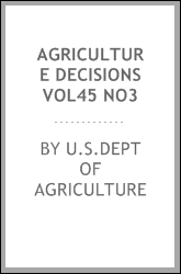 AGRICULTURE DECISIONS VOL45 NO3