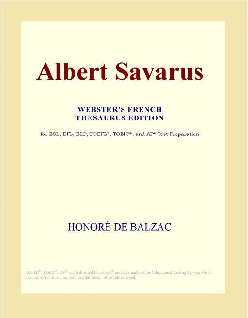 download albert savarus (webster's french thesaurus edition)