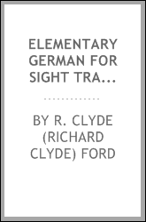 Elementary German for sight translation