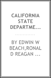 California state Department of Finance and Governor Ronald Reagan : oral history transcript / 1983-1984