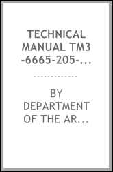 TECHNICAL MANUAL TM3-6665-205-10/2