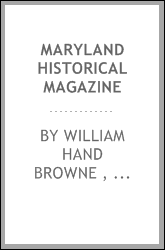 download Maryland Historical Magazine book
