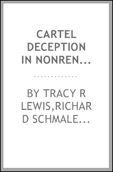Cartel deception in nonrenewable resource markets