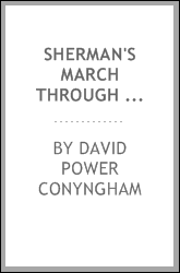 Sherman's march through the South. With sketches and incidents of the campaign