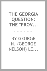 "The Georgia question: the ""provisional"" idea riddled"