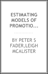 Estimating models of promotion-induced non-compensatory choice behavior using UPC scanner panel data