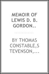 Memoir of Lewis D. B. Gordon..