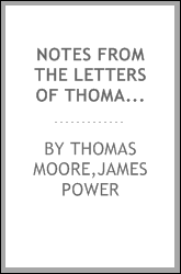 Notes from the letters of Thomas Moore to his music publisher, James Power :
