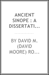 Ancient Sinope : a dissertation ...