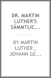 download dr. martin <b>luther</b>'s s&#228;mmtliche werke