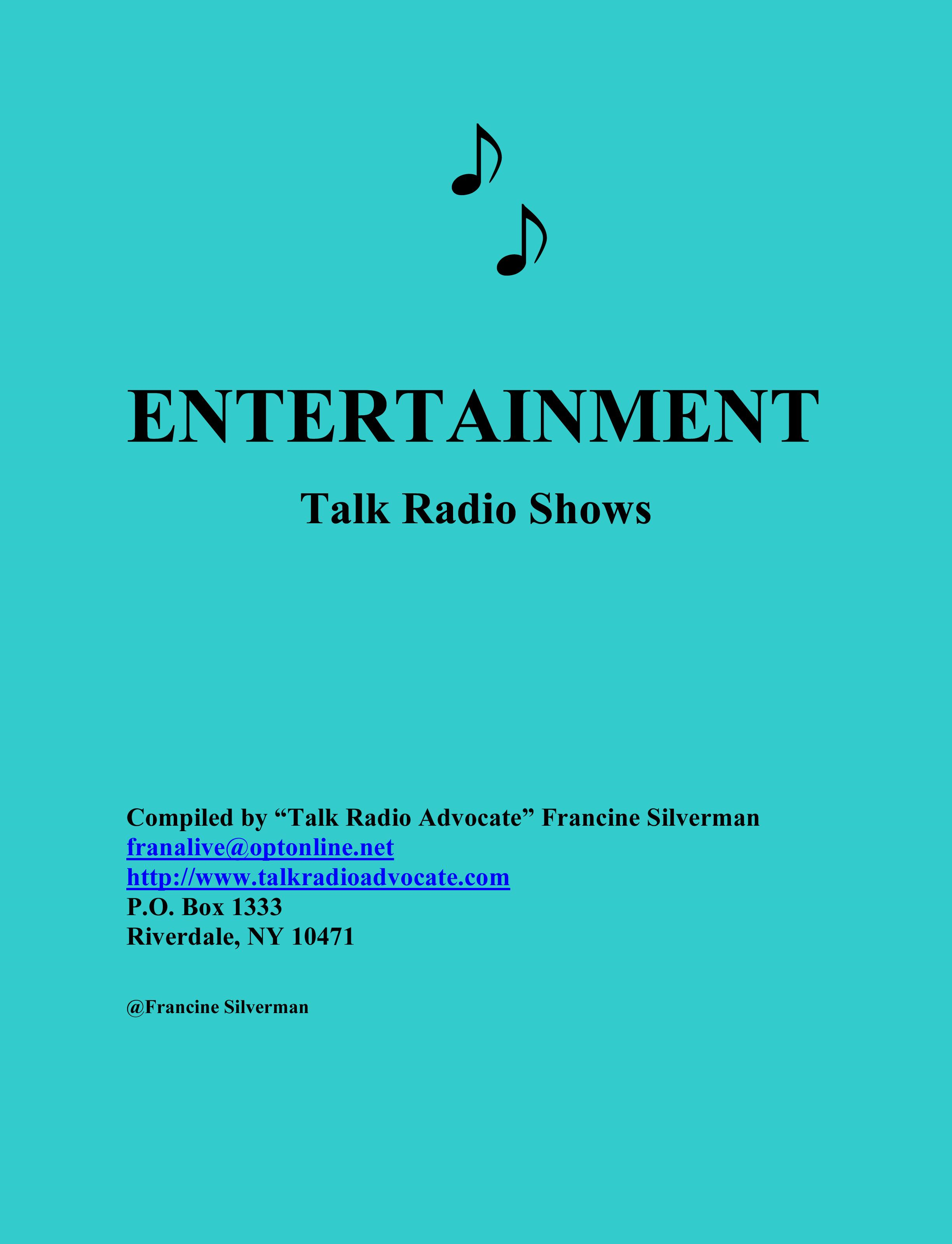 download directory of entertainment talk radio shows book