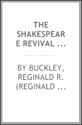 The Shakespeare revival and the Stratford-upon-Avon movement