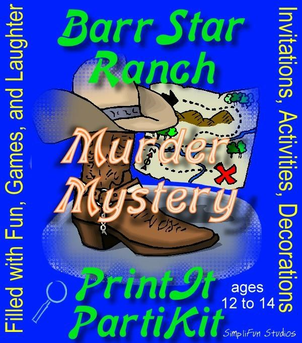 Bar Starr Ranch Murder Mystery Party Game and Kit for Boys and Girls: Filled with Fun, Games and Laughter