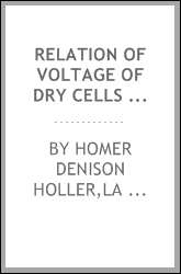 Relation of voltage of dry cells to hydrogen-ion concentration