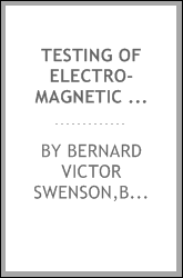 Testing of electro-magnetic machinery and other apparatus