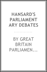 download Hansard's Parliamentary Debates book