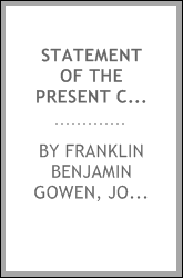 Statement of the present condition of the Philadelphia & Reading Railroad Co ...