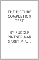 The picture completion test