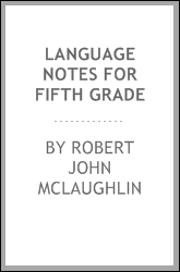 Language notes for fifth grade