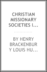 Christian Missionary Societies in the British West Indies during the Emancipation Era
