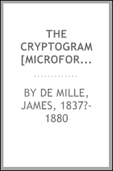 The cryptogram [microform] : a novel