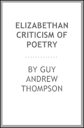 Elizabethan criticism of poetry