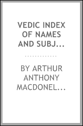 Vedic index of names and subjects