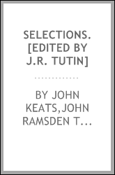 Selections. [Edited by J.R. Tutin]