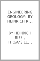 Engineering Geology: By Heinrich Ries and Thomas L. Watson