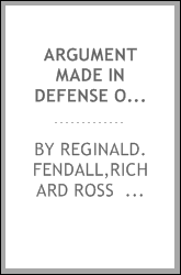 Argument made in defense of Benjamin G. Lovejoy