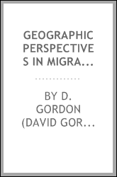 Geographic perspectives in migration research : a bibliographical survey
