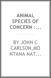 Animal species of concern : August 2001