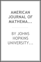 American Journal of Mathematics
