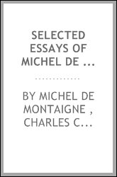 Selected Essays of Michel de Montaigne