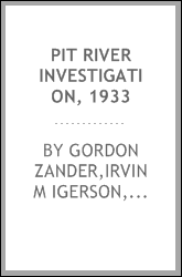 Pit River investigation, 1933