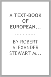 A text-book of European archaeology