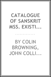 Catalogue of Sanskrit Mss. Existing in Oudh