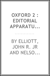 Oxford 2 : Editorial Apparatus - Records of Early English Drama