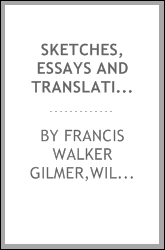 Sketches, essays and translations [microform]