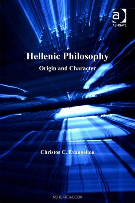 Hellenic Philosophy: Origin and Character