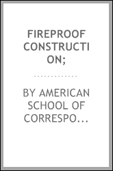 Fireproof construction;