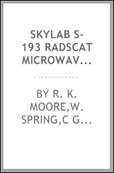 Skylab S-193 Radscat microwave measurements of sea surface winds