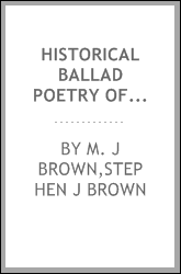 Historical ballad poetry of Ireland;