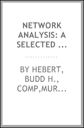download Network analysis: a selected bibliography book
