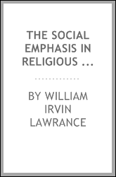 The social emphasis in religious education
