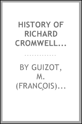 download History of Richard Cromwell and the restoration of Charles II book