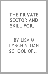 The private sector and skill formation in the United States : a survey
